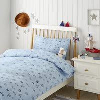 Wild West Bed Linen, Blue, Cot Bed