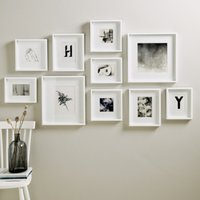 Picture Gallery Large Wall Photo Frame Set, White, One Size