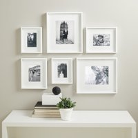 Picture Gallery Wall Small Photo Frame Set, White, One Size