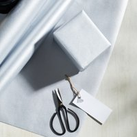 Silver Kraft Wrapping Paper  - 10m, Silver, One Size