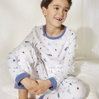 Whale Pyjamas (1-12yrs), White, 3-4yrs