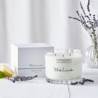 White Lavender Large Candle , No Colour, One Size
