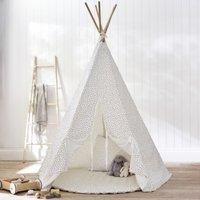 Wigwam Tent Toy, White Grey, One Size