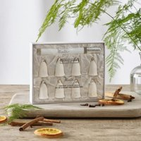 Winter Scented Ceramic Bell Decorations – Set of 8, No Colour, One Size