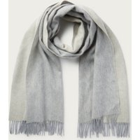 Wool-Cashmere Colourblock Scarf, Beige, One Size