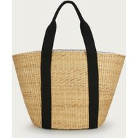 Woven Straw Tote Bag, Natural, One Size