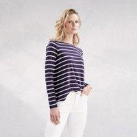 Wrap Back Stripe T-Shirt, Navy/White, 14