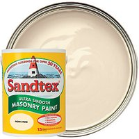 Sandtex Ultra Smooth Masonry Paint - Ivory Stone 5L