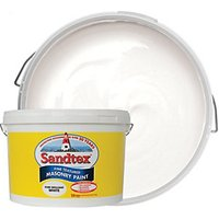 Sandtex Fine Textured Masonry Paint - Pure Brilliant White 10L