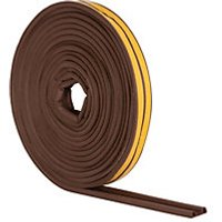 Wickes P Profile Rubber Draught Seal Brown - 10m