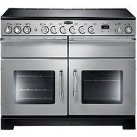 Rangemaster Excel 110 Ceramic Cooker - Stainless Steel with Chrome Trim