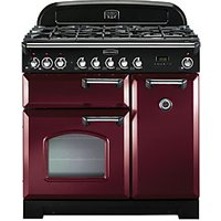 Rangemaster Classic Deluxe 90 Dual Fuel Cranberry & Chrome