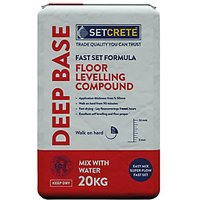 Click to view product details and reviews for Setcrete Deep Base Floor Levelling Compound 20kg.