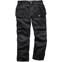 Scruffs Worker Plus Trouser Black - 34W 33L