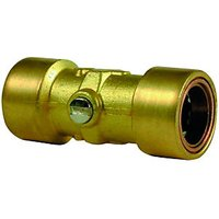 Wickes Copper Pushfit Service Valve 15mm Pack 2