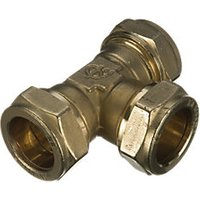 Wickes Brass Compression Equal Tee - 15mm