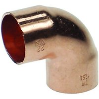 Wickes End Feed Elbow - 15mm Pack of 5