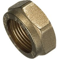 Wickes Brass Compression Nut - 15mm