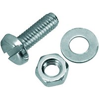 Wickes Machine Screws With Nut & Washer M4x12mm Pack 10