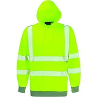Dickies High Visibility Hooded Sweatshirt Yellow Large