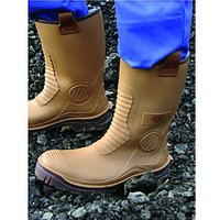 Dickies Safety Wellington Boot - Tan Size 11