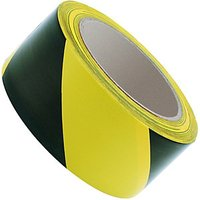 Wickes Hazard Tape Yellow & Black 50mm x 33m