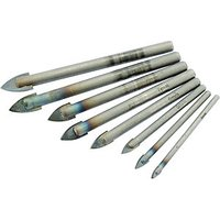 Wickes Glass   Tile Drill Bit Set   Pack of 8