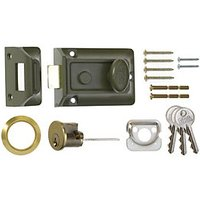 ERA Traditional Door Lock - Green & Brass 60mm