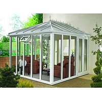 Wickes Edwardian Conservatory E8 Full Height White 3880 x 3810mm