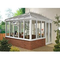 Wickes Edwardian Wall White Conservatory - 13 x 17 ft