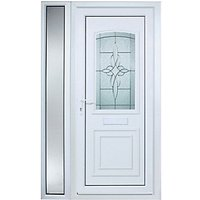 Wickes Medway 1 Sidelight Pre-hung Upvc Door 2085 x 1220mm Left Hand Hung