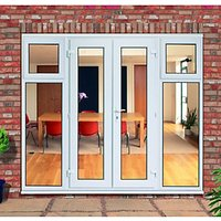 Wickes Upvc French Doors with 2 Side Sash Panels 600mm - 2390 x 2090 mm