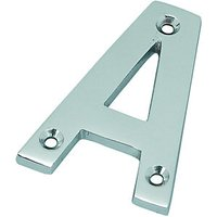 Wickes Door Letter A Chrome