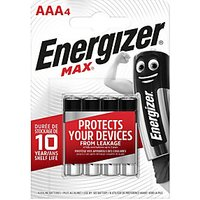 Energizer Max Alkaline Batteries AAa 4 Pack