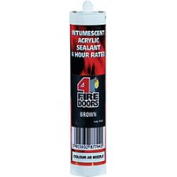 4FireDoors Intumescent & Acoustic Acrylic Sealant - Brown 310ml