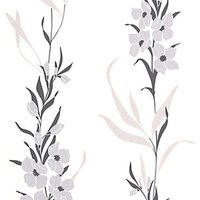 Graham & Brown Superfresco Easy Jardin Decorative Wallpaper Grey - 10m