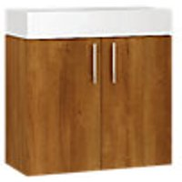 Wickes Talana Walnut Compact Wall- Hung Vanity Unit - 600mm