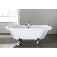 Wickes Decadent Double Ended Roll Top Bath With Chrome Feet - 1750mm