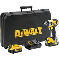 DEWALT 18V DCF880M2 GB XR Cordless Compact Impact Wrench With 2 X 4 0AH Batteries Charger   Kit Box