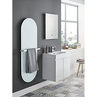 Wickes Talana White Gloss Wall Hung J-Pull Compact Vanity Unit - 600mm