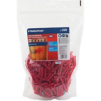 Rawlplug Uno Plug and Screw - Red 6mm Pack of 500