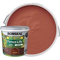 Ronseal One Coat Fence Life Matt Shed and Fence Treatment - Red Cedar 5L