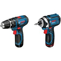 Bosch Professional GSB 12V 15   GDR 12V 105 Cordless Combi Drill and Impact Driver Twin Pack