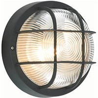 Coast Mars 1 light Bulkhead Light Black - 60W E27