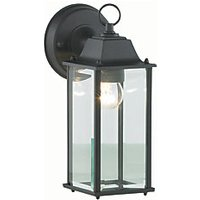 Zinc Ceres Black Bevelled Glass Lantern   60W