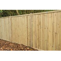 Forest Garden Pressure Treated Acoustic Fence Panel - 6 x 6ft Pack of 5