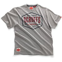 Scruffs Authentic Grey T Shirt - S