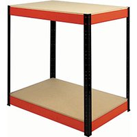 Click to view product details and reviews for Rb Boss Workbench 2 Wood Shelves 900 X 900 X 300mm 600kg Udl.