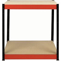 Click to view product details and reviews for Rb Boss Workbench 2 Wood Shelves 900 X 900 X 400mm 800kg Udl.