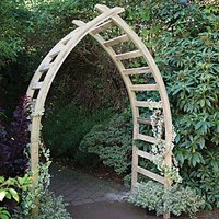 Forest Garden Whitby Gothic Slatted Arch - 1540 x 760 mm